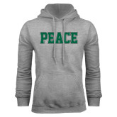 Grey Fleece Hoodie-PEACE