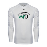 Under Armour White Long Sleeve Tech Tee-WPU Primary Mark