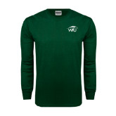 Dark Green Long Sleeve T Shirt-WPU Primary Mark