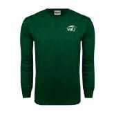 Dark Green Long Sleeve T Shirt-WPU Primary Mark
