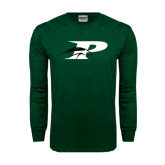 Dark Green Long Sleeve T Shirt-P w/Pacer