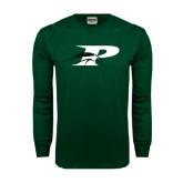 Dark Green Long Sleeve T Shirt-P w/Pacer