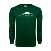 Dark Green Long Sleeve T Shirt-Pacer Head