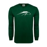 Dark Green Long Sleeve T Shirt-Pacer Head