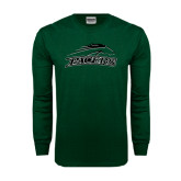 Dark Green Long Sleeve T Shirt-Arched Pacer w/ Pacer Distressed