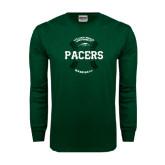 Dark Green Long Sleeve T Shirt-Baseball Seams Design