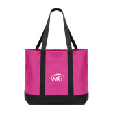 Tropical Pink/Dark Charcoal Day Tote-WPU Primary Mark