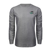 Grey Long Sleeve T Shirt-WPU Primary Mark