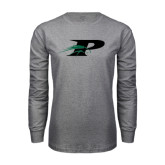 Grey Long Sleeve T Shirt-P w/Pacer