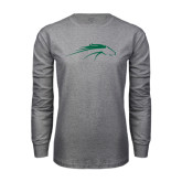 Grey Long Sleeve T Shirt-Pacer Head