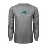 Grey Long Sleeve T Shirt-Pacer Head