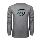 Grey Long Sleeve T Shirt-Dad
