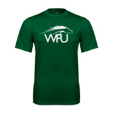 Performance Dark Green Tee-WPU Primary Mark