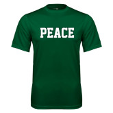 Performance Dark Green Tee-PEACE