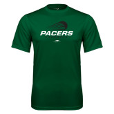 Performance Dark Green Tee-Pacers Lacrosse Stacked