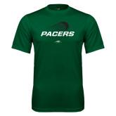 Performance Dark Green Tee-Pacers Lacrosse Stacked