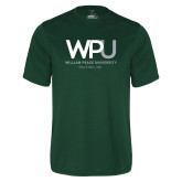 Performance Dark Green Tee-WPU William Peace University