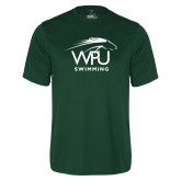 Performance Dark Green Tee-Swimming