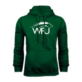 Dark Green Fleece Hood-WPU Primary Mark