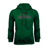 Dark Green Fleece Hood-Arched Pacer w/ Pacer