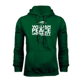 Dark Green Fleece Hood-William Peace University Stacked