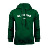 Dark Green Fleece Hood-Arched William Peace University