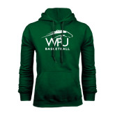 Dark Green Fleece Hood-Basketball