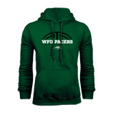 Dark Green Fleece Hood-Basketball Half Ball Design