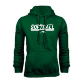 Dark Green Fleece Hood-Softball Bar Design