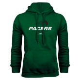 Dark Green Fleece Hood-Pacers Lacrosse Stacked