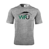 Performance Grey Heather Contender Tee-WPU Primary Mark