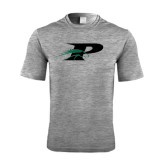 Performance Grey Heather Contender Tee-P w/Pacer