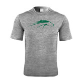Performance Grey Heather Contender Tee-Pacer Head