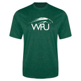 Performance Dark Green Heather Contender Tee-WPU Primary Mark