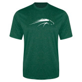 Performance Dark Green Heather Contender Tee-Pacer Head