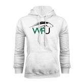 White Fleece Hoodie-WPU Primary Mark