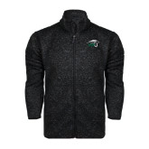 Black Heather Fleece Jacket-WPU Primary Mark