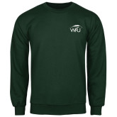 Dark Green Fleece Crew-WPU Primary Mark