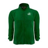 Fleece Full Zip Dark Green Jacket-WPU Primary Mark