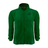 Fleece Full Zip Dark Green Jacket-WPU Primary Mark Tone