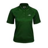 Ladies Dark Green Textured Saddle Shoulder Polo-Pacer Head