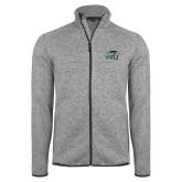 Grey Heather Fleece Jacket-WPU Primary Mark