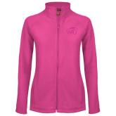 Ladies Fleece Full Zip Raspberry Jacket-WPU Primary Mark Tone