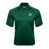 Dark Green Textured Saddle Shoulder Polo-WPU Primary Mark
