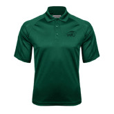 Dark Green Textured Saddle Shoulder Polo-WPU Primary Mark Tone