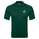 Dark Green Textured Saddle Shoulder Polo-Lacrosse