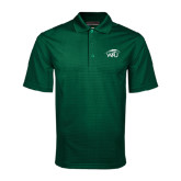 Dark Green Mini Stripe Polo-WPU Primary Mark