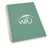 Clear 7 x 10 Spiral Journal Notebook-WPU Primary Mark