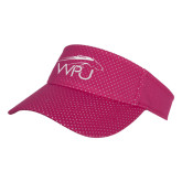 Pink Athletic Mesh Visor-WPU Primary Mark