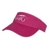 Pink Athletic Mesh Visor-WPU Primary Mark